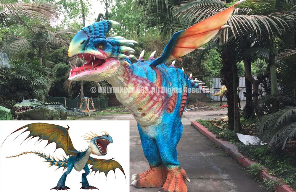 Custom Realistic Dragon Nadder Costume is roaring