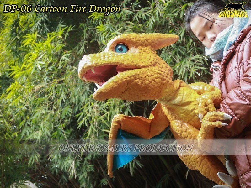 Cartoon Fire Baby Dragon Puppet