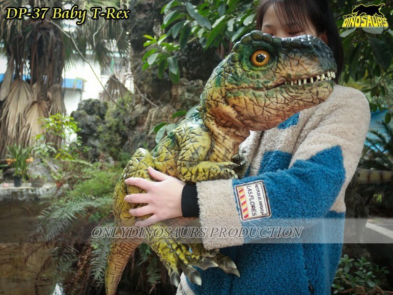 Realistic Baby T-Rex Hand Puppet