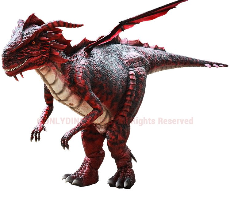 Realistic Dragon Costume Features