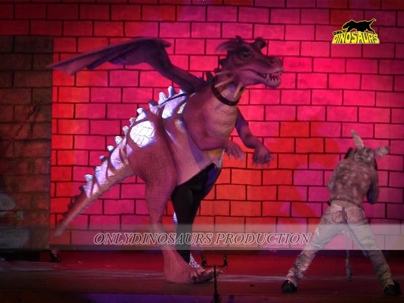 Pink Color Shrek Dragon Costume