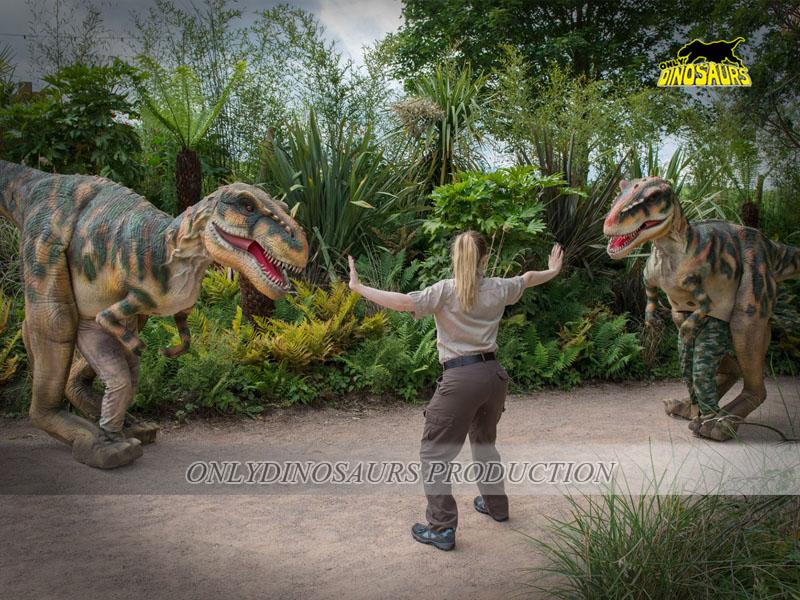 Two Animatronic Dinosaur Costumes