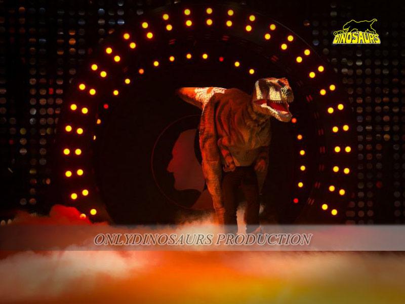 Animatronic T-Rex Costume on the Stage