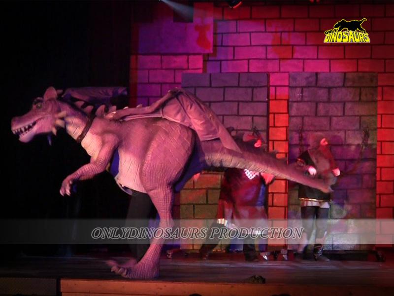 Shrek Dragon Costume on the Stage