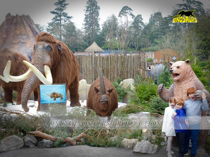 Ice Age Animals in Theme Park