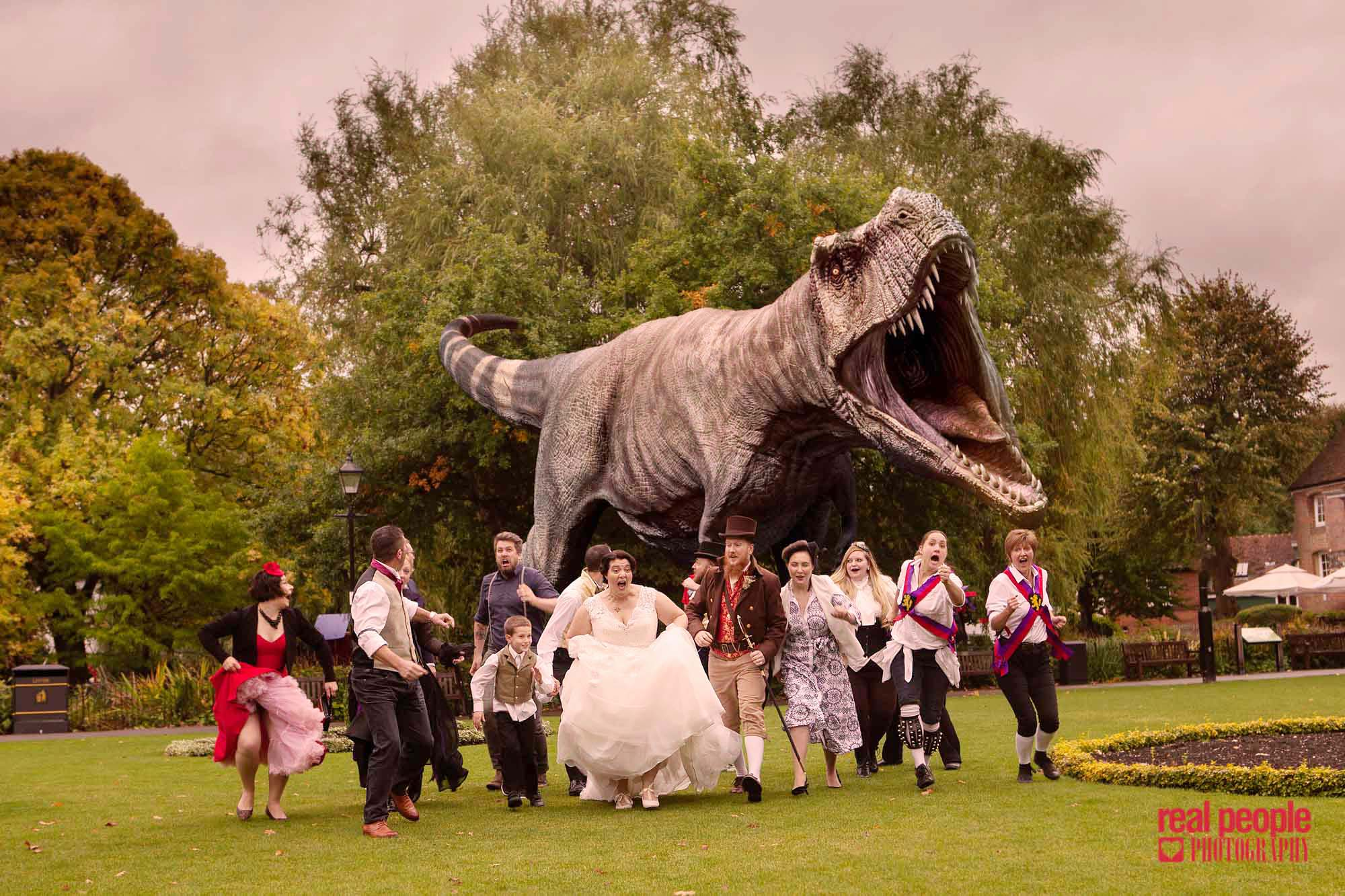 Dinosaur Wedding Outdoor
