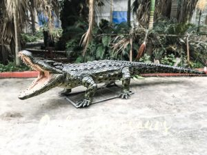Aquarium Lifelike Crocodile Animatronic Animals