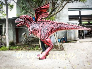 Authentic Lifelike Dragon Costume Visible Legs