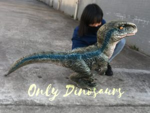 Baby Blue Velociraptor Puppet from Jurassic World