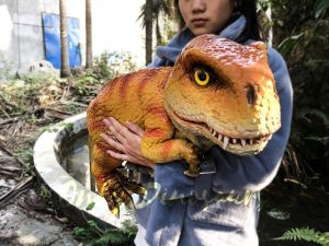 Baby T-Rex Puppet with Orange Stripe