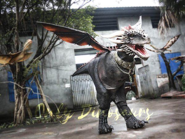 Black Realistic Halloween Dragon Costume2 1