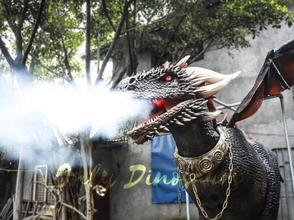 Black Realistic Halloween Dragon Costume3 1