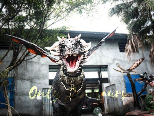Black Realistic Halloween Dragon Costume6 1