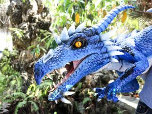 Customized Blue Ice Dragon Shoulder Puppet