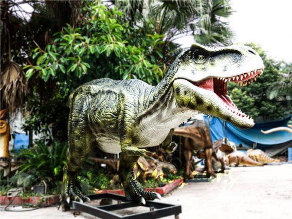 Dinosaur Exhibition Realistic Animatronic T Rex Green4 1