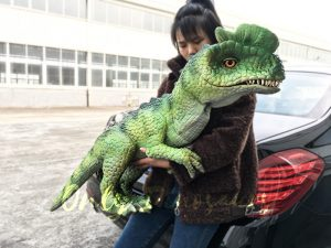 Dinosaur Puppet Flexible Baby Dilophosaurus Puppet