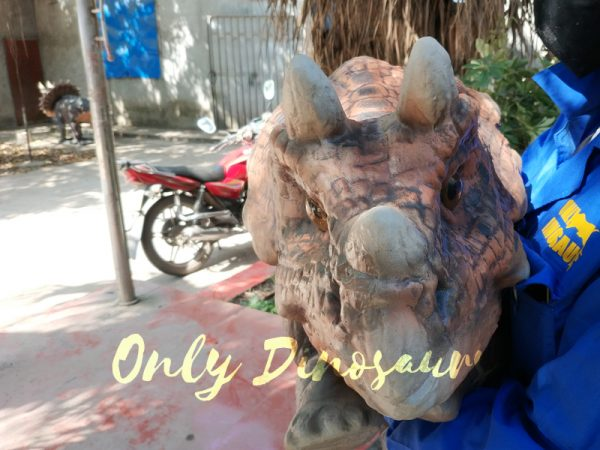 Emulational-Baby-Dinosaur-Puppet-Triceratops-For-Park-Dark-Brown1-2