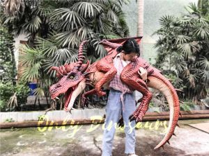 Eye-catching Full Body Puppet Myths Dragon in Red