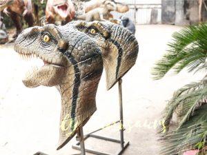 Highly Realistic Fiberglass Statues Velociraptor Head