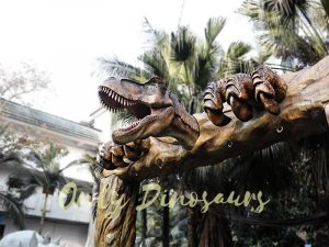 Jurassic Park Fiberglass T-Rex Head Gate Entrance