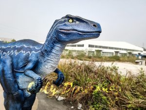 Jurassic Park Velociraptor Blue Costume in Reality
