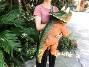 Jurassic World Triceratops Hand Puppet Orange & Green