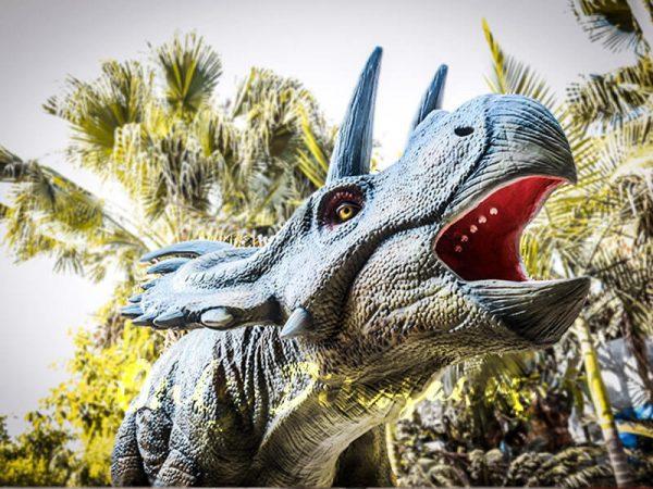 Life Size Artificial Dinosaur Animatronic Albertaceratops3 1