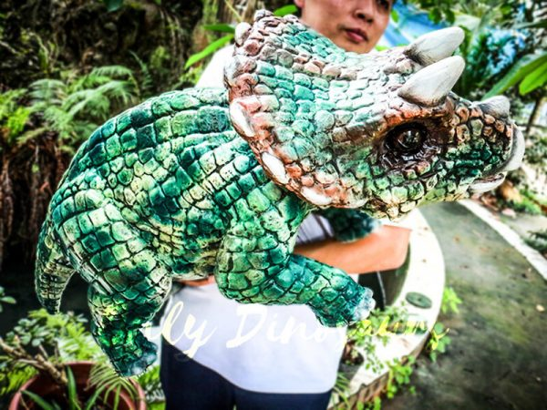 Likable Triceratops Baby Dinosaur Puppet Hand Puppet7 1