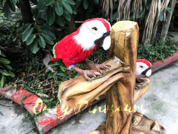 Likelike Animatronic Parrot Model Robotic Macaw for Garden1