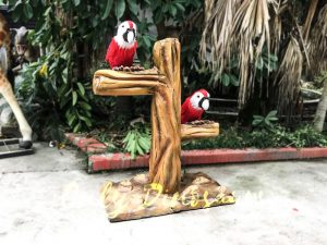 Likelike Animatronic Parrot Model Robotic Macaw for Garden