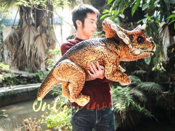 Lovely Dinosaur Park Attraction Hand Puppet Dark Orange1 1
