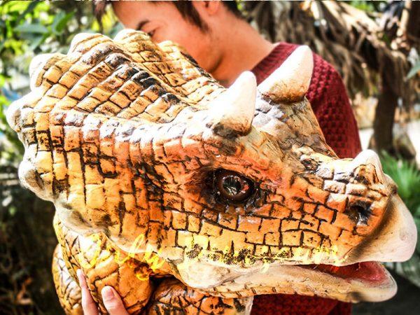 Lovely Dinosaur Park Attraction Hand Puppet Dark Orange4 1
