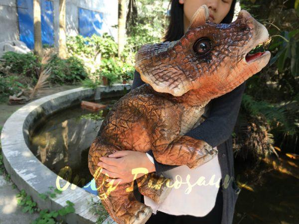 Mechanical-Dinosaur-Baby-Hand-Puppet-Brown2-2