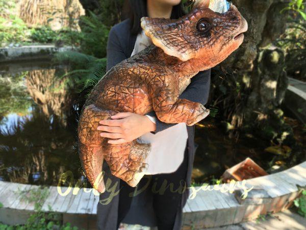 Mechanical-Dinosaur-Baby-Hand-Puppet-Brown5