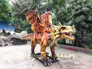 Orange Animatronic Dragon for Theme Park
