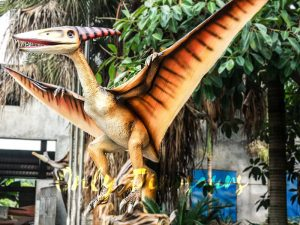 Realistic Animatronic Pterosaur on the Stump