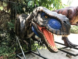 Realistic Animatronic T-Rex Head for Building Decoration