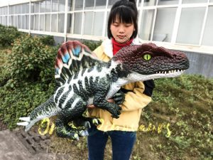 Realistic Baby Spinosaurus Puppet Colorful Hand Puppet