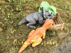 Realistic Baby Triceratops Hand Puppet Manually Controlled Puppet