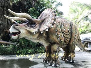 Realistic Dinosaur Triceratops Costume for Two-Person Performance