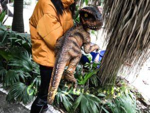 Realistic Stripe Baby T-Rex Dinosaur Puppet