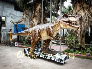 Stage Show Animatronic Walking Dinosaur T-Rex