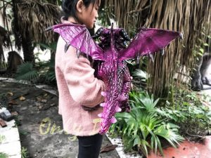 Adorable Fly Dragon Puppet for Kids in Purple