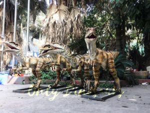 Agminate Utahraptor Animatronic Dinosaur Show Props