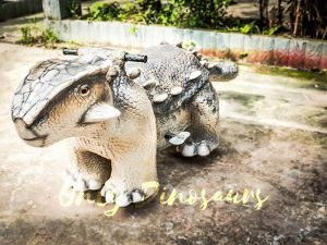 Amusement Ankylosaur Dinosaur Rider for Kiddy