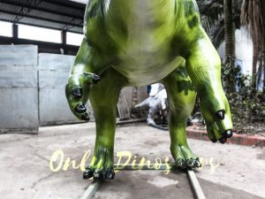 Armed Custom Dinosaur Parasaurolophus in Green