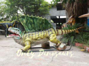 Custom Colorful Animal Animatronics Dimetrodon