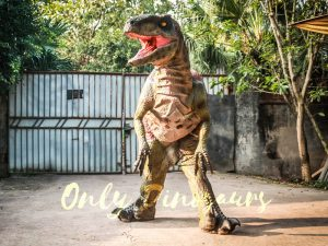 Customized Velociraptor Costume Red & Green
