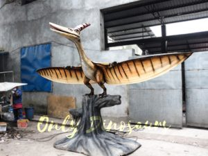 Dinosaur Animatronic Pterodactyl on stump
