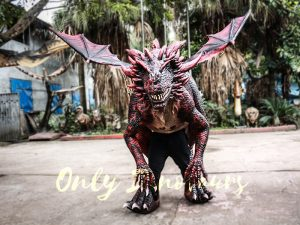 Evil Dragon Halloween Costume Frightening People